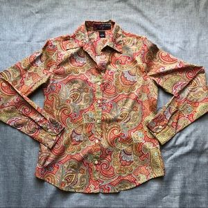 Peck and Peck paisley button down shirt